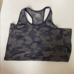 Athleta Speedlight Blue Camo Tank M